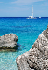 Yacht in the sea (eastern part of Sardinia)