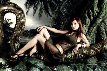 model snake boa