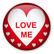 Glassy Button Love Me 010