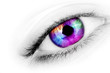 Multicolored eye