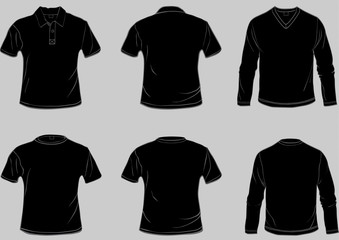collection of black shirt templates