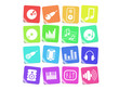 Music and audio vector icons