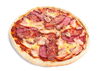 meat topping pizza
