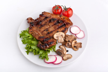pork chop with mushrooms