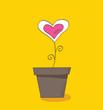 Beautiful love flower – symbol of love. Vector Illustration.