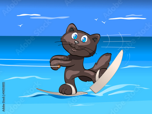 water skis - boy