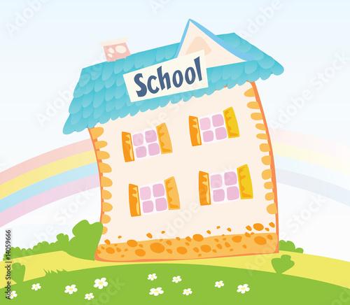 clip art school building. of School building.
