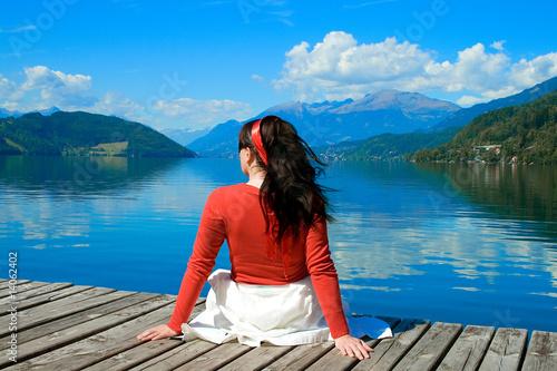 Leinwanddruck Bild living by the lake 5