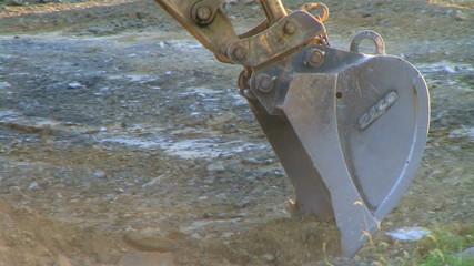 Excavator Bucket Digging
