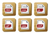Web files icons | Cardboard series
