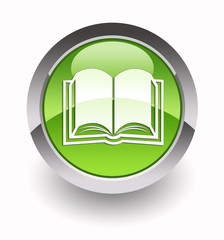 Book glossy icon