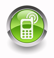 Cell-phone glossy icon