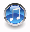 Music glossy icon