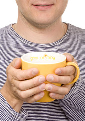man with a cup