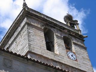 detalles campanario iglesia de la alberca