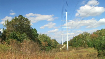 Power Lines Time Lapse