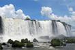Looking up at Brazilian side of falls, Iguazu