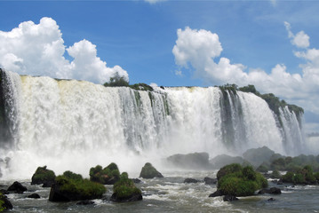 Looking up at Brazilian side of falls, Iguazu
