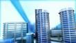 Ville 3D bleue