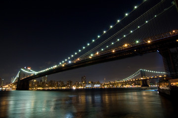 Brooklyn and Manhattan bridge in New York