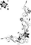 Fototapety Blumenranke, Blüten filigran, Schnörkel