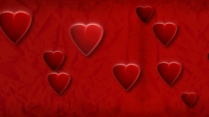 Animation coeur fond rouge