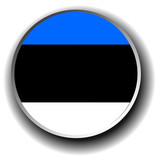 estonia flag icon - vector button
