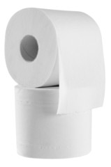 Toilet paper. Clipping path.
