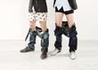 Leinwanddruck Bild - Zwei Männer mit runtergelassenenHosen