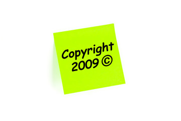 Copyright 2009 Note