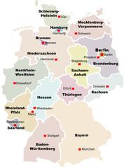 Deutschland Bundesländer bunt