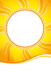 Decorative summer sunny vector background