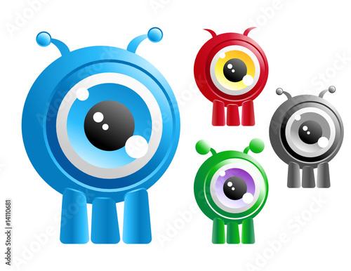 Alien Creature Cartoon Character