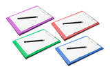 Clipboards with Blank Papers and Pencisl