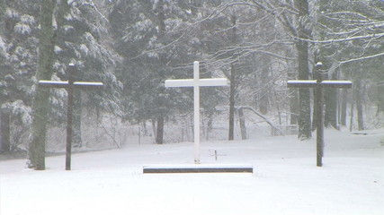 Crosses in Snow