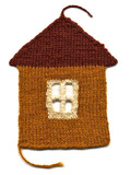 Needlework. knitted house poster