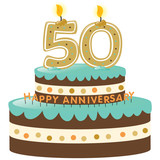 50th Anniversary Cake with Candles poster