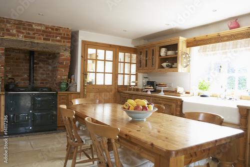 canvas print picture Interior Of Farmouse Kitchen