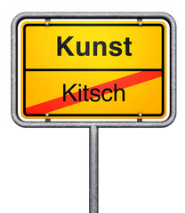 Kunst Kitsch sign