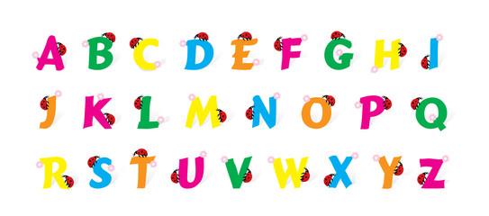 alfabeto coccinellato