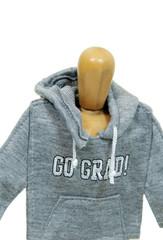 Graduate wearing hoodie