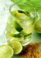 Caipirinha, lime cocktail