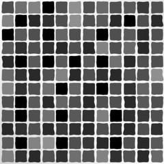 Vector Black Mosaic Tiles