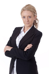 Young business woman portrait isolated