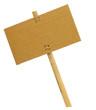 image d'un panneau en bambou et carton détouré blanc