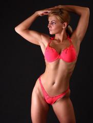 fitness woman in bikini