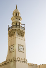 Mosque tower against clear sky