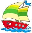 Cartoon sailboat