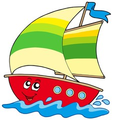Cartoon sailboat