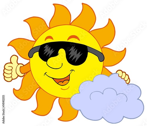 animated sunshine clip art. clip art sun and clouds.
